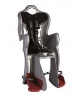 Сиденье задн. Bellelli B1 Сlamp (на багажник) до 22кг, серебристое с чёрной подкладкой