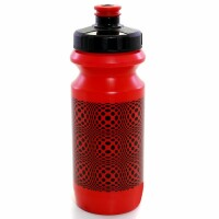 Фляга 0,6 Green Cycle DOT с большим соском, red nipple/ Black cap/ red bottle