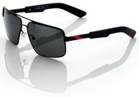 "Спортивные очки 100% ""HAKAN"" Sunglasses Matte Black/Red - Grey Tint, Mirror Lens"