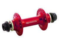 Втулка пер. Quando KT-MBAF 36H nut 100mm для BMX, на гайках алюмин красн.