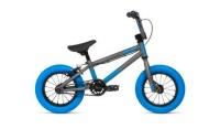 """Велосипед 12"""" Stolen AGENT 2020 MATTE RAW SILVER W/ DARK BLUE TIRES"""