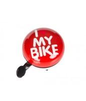 Динг-Донг Green Cycle GCB-1058S I love my bike диаметр 80мм красный