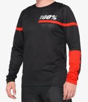 Вело джерси Ride 100% R-CORE Jersey [Black Red], XL