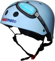 Шлем детский Kiddimoto очки пилота, синий