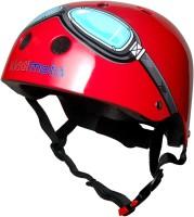 Шлем детский Kiddimoto очки пилота, красный