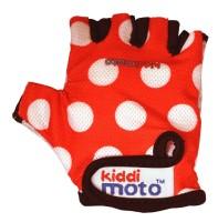 Перчатки детские Kiddimoto красные в белый горошек