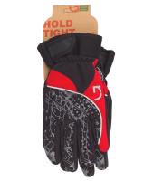 Перчатки Green Cycle NC-2409-2014 Winter с закрытыми пальцами черный-серый-красный