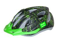 Шлем детский Green Cycle Fast Five черно-зеленый