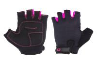 Перчатки Green Cycle Frida Feminine без пальцев черно-розовые