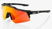Велосипедные очки Ride 100% SpeedCraft XS - Soft Tact Black - HiPER Red Multilayer Mirror Lens, Mirror Lens