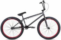 "Велосипед 24"" Stolen SAINT рама - 21.75"" 2021 MATTE RAW GREY W RED"