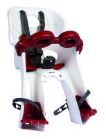 Сиденье пер. Bellelli Freccia Standart B-fix до 15кг, белое с красной подкладкой