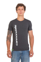 Футболка мужская Cannondale серая с белым логотипом