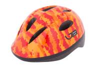 Шлем детский Green Cycle Pixel оранжевый/красный лак