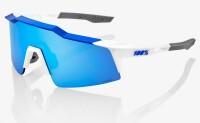 Велосипедные очки Ride 100% SpeedCraft SL - Matte White - HiPER Blue Multilayer Mirror, Mirror Lens