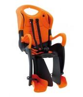 Сиденье задн. Bellelli Tiger Standart B-fix до 22кг, чёрно-оранжевое с оранжевой подкладкой