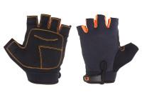 Перчатки Green Cycle SIMPLA без пальцев черно-оранжевые