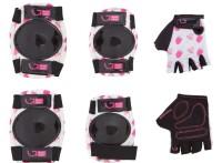 Защита для детей Green Cycle IceCream White наколенники, налокотники, перчатки, белые