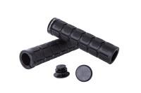 Грипсы Green Cycle GC-G219 130mm вспененная резина, с одним замком черные