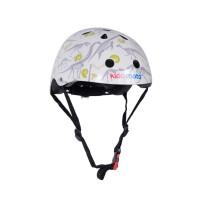 Шлем детский Kiddi Moto Динозавры, белый