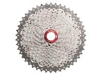 Кассета инд. 11-k 11-46T SUN RACE MX8 MTB, алюминиевый паук, Metallic Silver