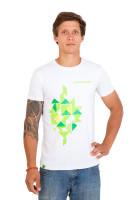 Футболка мужская Cannondale белая с зеленым орнаментом