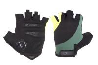 Перчатки Green Cycle Pillow без пальцев черный/зеленый/желтый