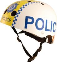 Шлем детский Kiddimoto полиция, белый