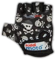 Перчатки детские Kiddimoto чёрные с черепами