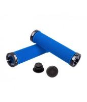 Грипсы Green Cycle GC-G211 130mm синий с двумя черными замками