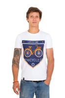 Футболка мужская белая Classic bicycle
