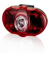 Фонарь светодиодн задн +батар. INFINI I-406R Vista 3 SMD LED, 2 режима, крепл.