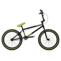 "Велосипед 20"" Stolen OVERLORD 2020 BLACK W/ REFLECTIVE YELLOW"