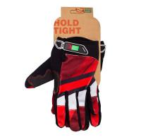 Перчатки Green Cycle NC-2566-2015 MTB с закрытыми пальцами красно-белые