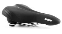 Седло Selle Royal Premium OPTICA MODERATE, 3D Skingel, обивка Black Astrale, 271х169мм, 540г, эластомеры, мужское, чёрное