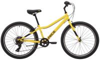 """Велосипед 24"""" Pride BRAVE 4.1 Yellow/Black 2021"""