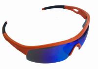 Очки Green Cycle GGL-422 c тремя сменными линзами + футляр + чехол; Оранжевые