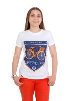 Футболка женская белая Classic bicycle
