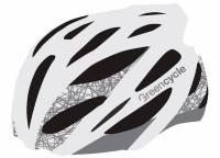 Шлем Green Cycle New Alleycat бело-серый матовый