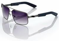 "Спортивные очки 100% ""HAKAN"" Sunglasses Brushed Silver - Grey Gradient Tint, Mirror Lens"