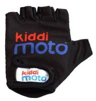 Перчатки детские Kiddimoto чёрные с логотипом