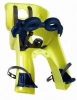 Сиденье пер. Bellelli Freccia Standart B-fix до 15кг, неоново-жёлтое с чёрной подкладкой (Hi Vision)